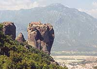 Magnificent Distant view of Meteora