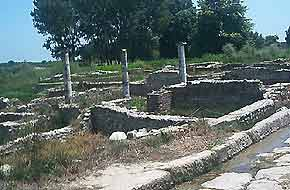 The archeological site of Dion in Macedonia, Greece