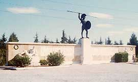 Monument of Leonidas and his troops at Thermopylae
